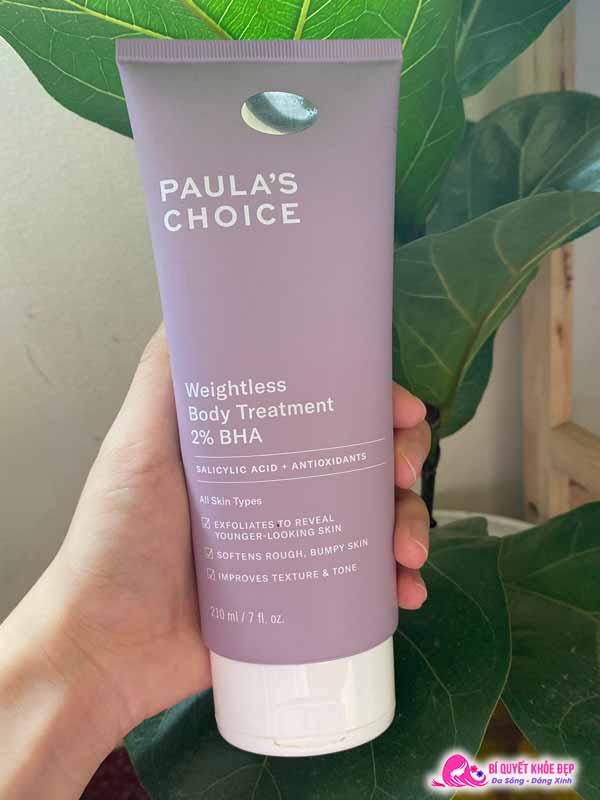 Review kem dưỡng thể Paula's Choice BHA có tốt không