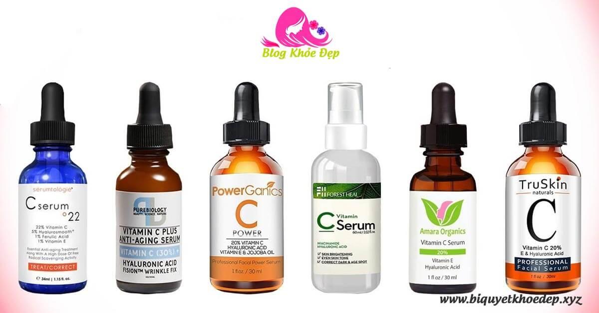 TOP 10 serum vitamin C cho da dầu mụn giá bình dân
