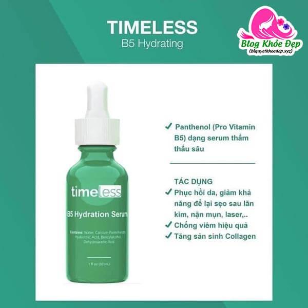 Công dụng Serum Timeless vitamin B5