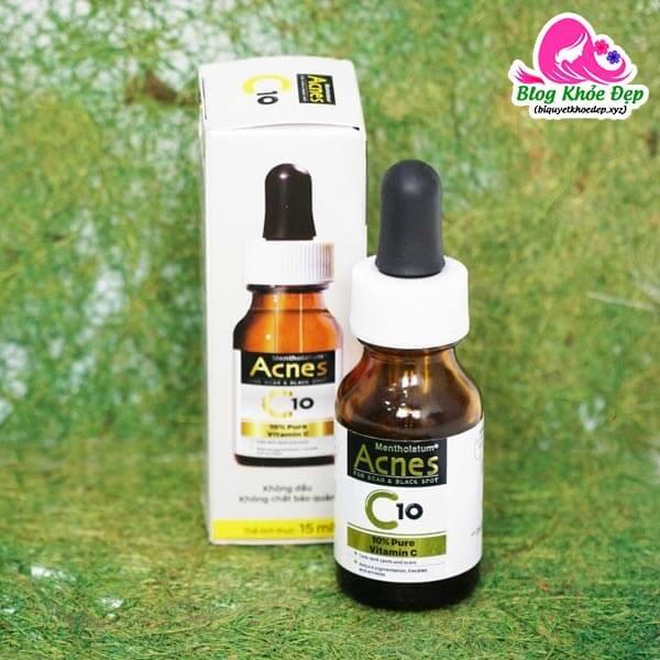 Review serum vitamin C cho da dầu Acnes C10