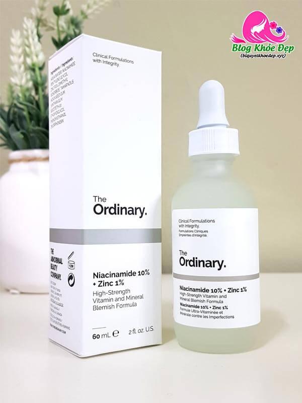 Serum se khít lỗ chân lông The Ordinary Niacinamide 10%