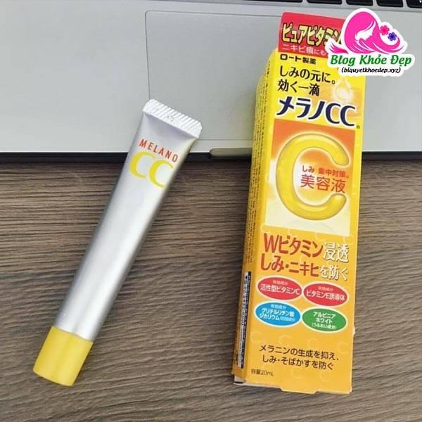 Serum vitamin C cho da dầu Melano CC Whitening Essence