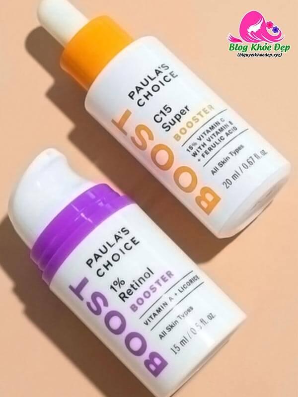 Sử dụng serum vitamin C với Retinol