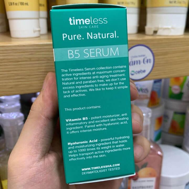 Thành phần Serum Timeless Vitamin B5