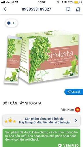Bột cần tây Sitokata chính hãng