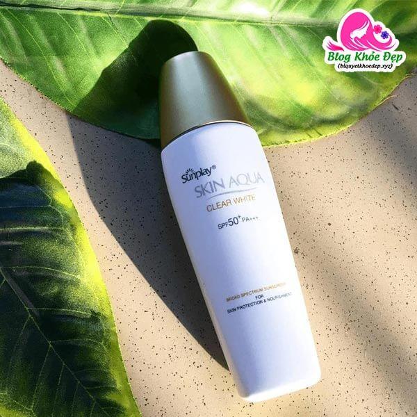 Kem chống nắng cho da dầu giá học sinh Sunplay Skin Aqua