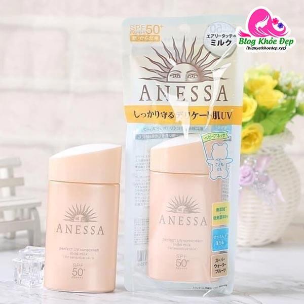 Kem chống nắng cho da dầu nhạy cảm Anessa