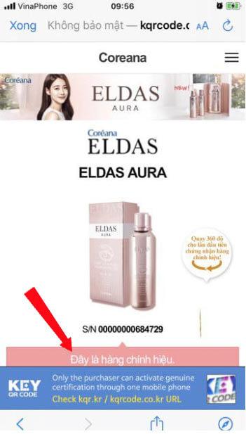 Serum Eldas Aura thật và giả