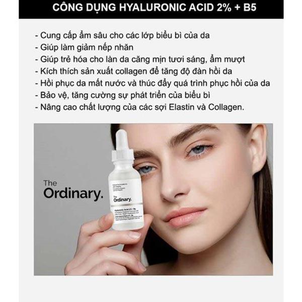 Công dụng serum The Ordinary Hyaluronic Acid 2%+B5
