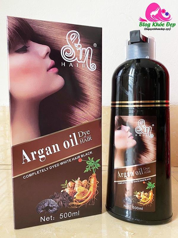 Review dầu gội phủ bạc Nhật Sin Hair