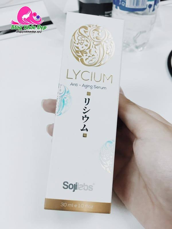 Review Lycium Serum Nhật Bản