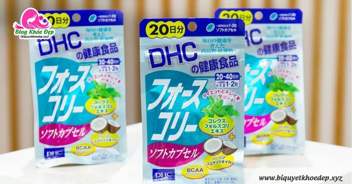 Review viên uống giảm cân DHC dầu dừa