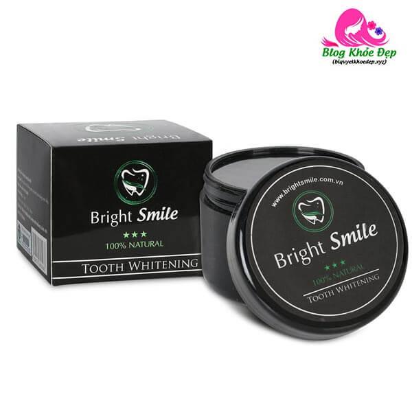 Bột trắng răng than hoạt tính Bright Smile