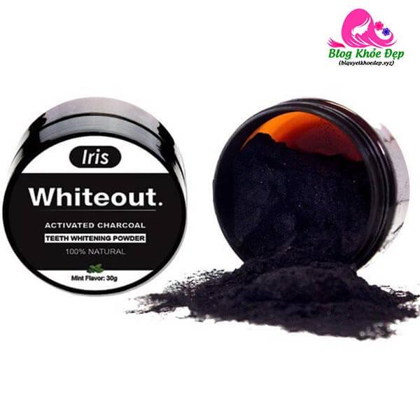 Than hoạt tính trắng răng Iris Whiteout