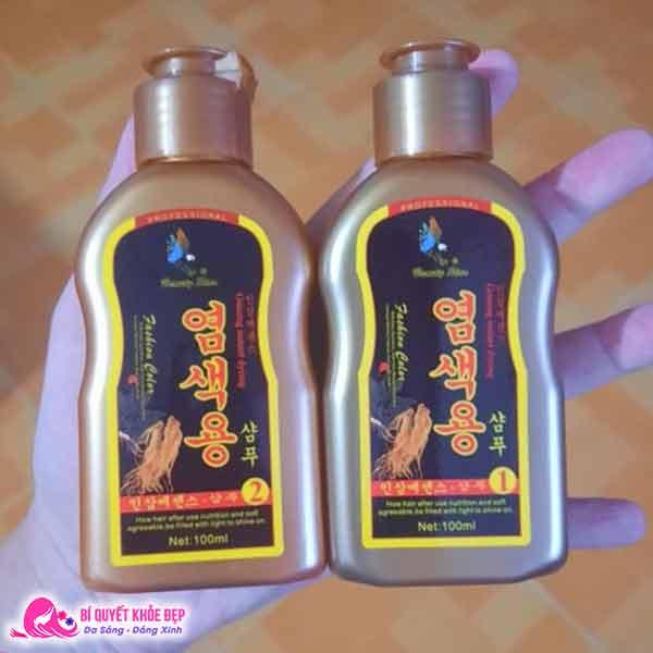 Dầu gội đen tóc nhân sâm Hàn Quốc