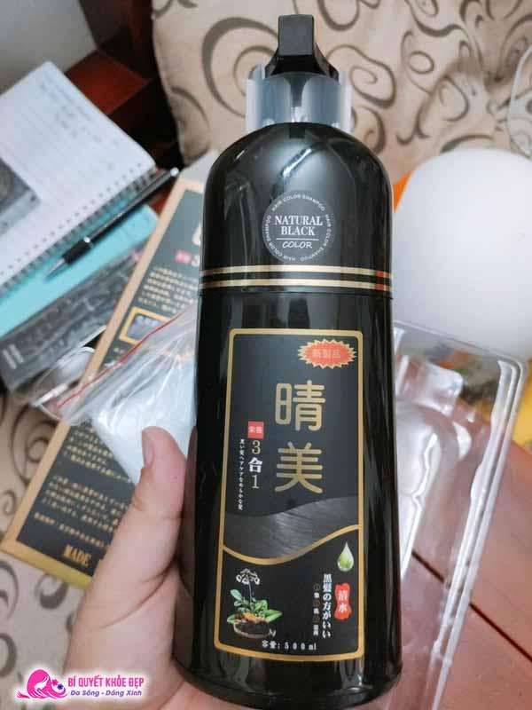 Dầu gội đen tóc thảo dược Komi Nhật Bản