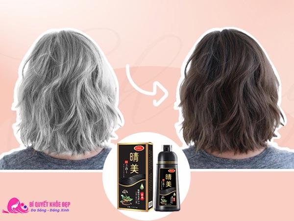 Dầu gội nhuộm tóc bạc