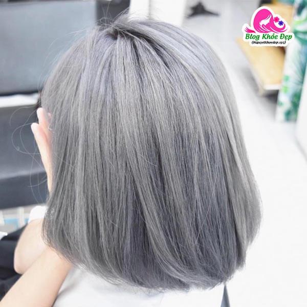 Màu ánh bạc cho tóc bạc sớm