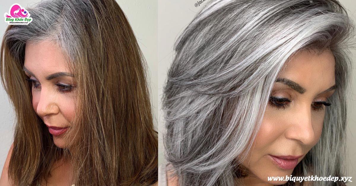 Tóc bạc sớm nhuộm màu gì đẹp nhất