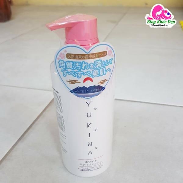 Review sữa tắm trắng Yukina Nhật Bản