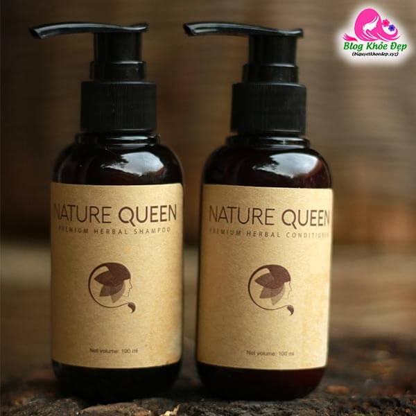 Review dầu gội trị rụng tóc sau sinh Nature Queen
