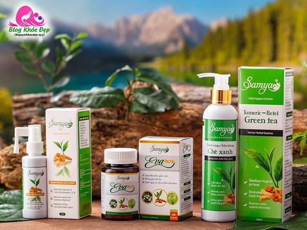 Review bộ sản phẩm chăm sóc vùng kín Samya