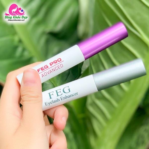 Serum dưỡng mi FEG xanh và hồng