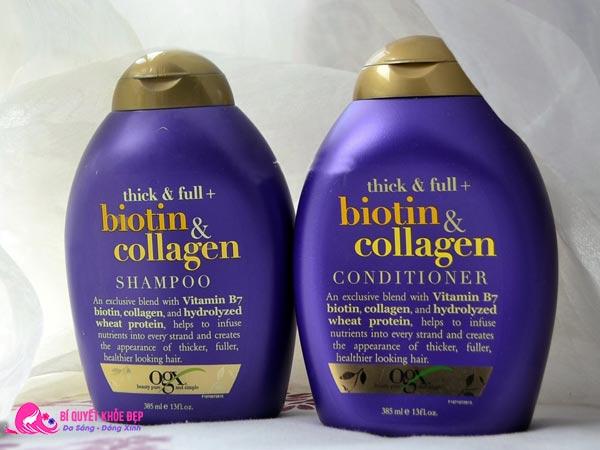 Phục hồi tóc hư tổn bằng collagen