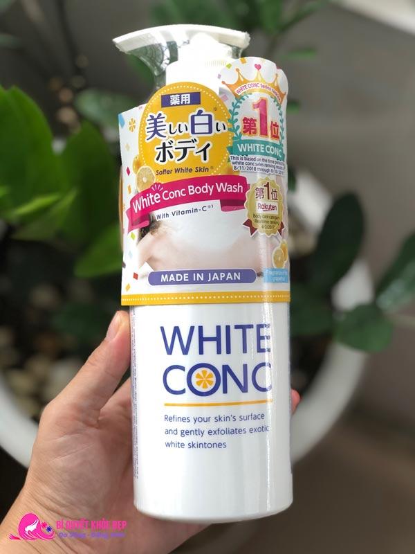 Sữa tắm trắng da toàn thân thơm lâu White Conc Body Wash
