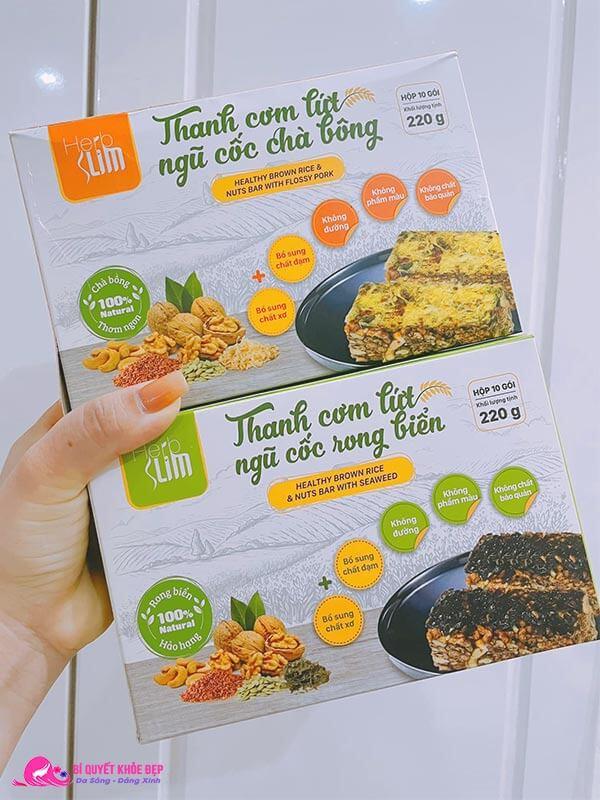Sản phẩm thanh gạo lứt Herbslim giảm cân