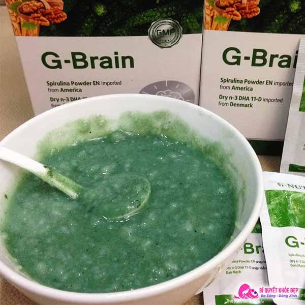 Cách dùng cốm trí não G Brain
