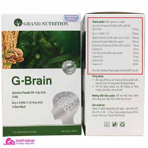 Review cốm trí não G Brain